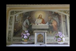detalhe do altar da capela