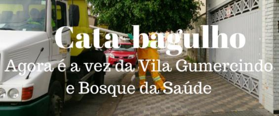Cata-bagulho na Vila Gumercindo, Bosque da Saúde acontece das 08h00 às 11h00