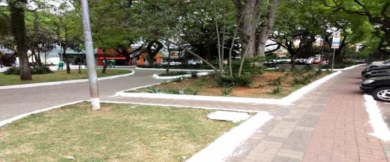 Praça Dr. Sampaio após zeladoria