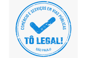 Logo do programa Tô Legal em tom azul.