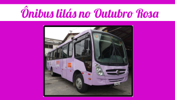 ônibus lilás no Outubro Rosa
