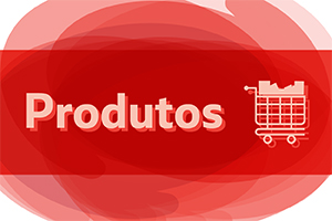 Titulo na cor vermelha, fundo na cor vermelha escura, ilustração de um carrinho de supermercado