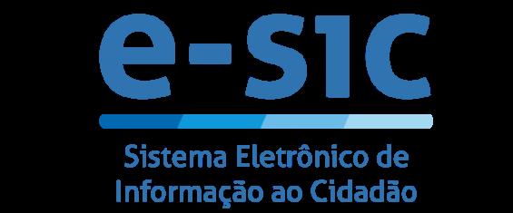 Em azul a arte traz em destaque e-sic e abaixo Sistema Eletrônico de Informação ao Cidadão