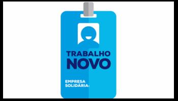 #PraCegoVer - Logo Trabalho Novo