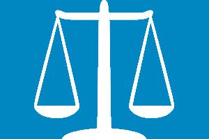 Ícone de legislação com a balança de pesos.
